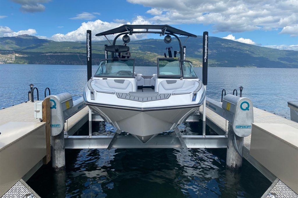 High Water Levels - Can you boat on Okanagan Lake right now. Shoreline Pile Driving Insights