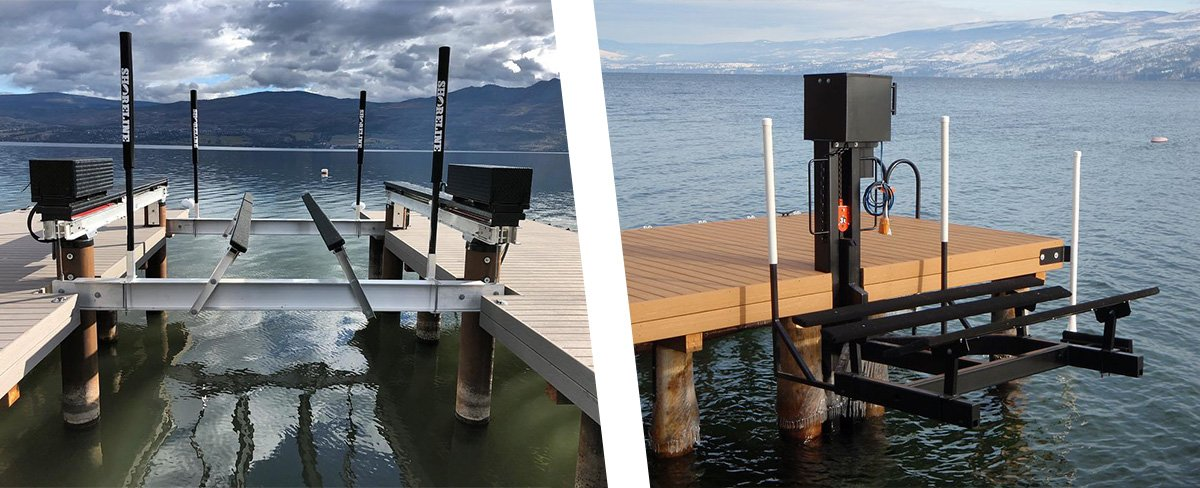 Know your lift before loading and unloading boat off - Shoreline Pile Driving