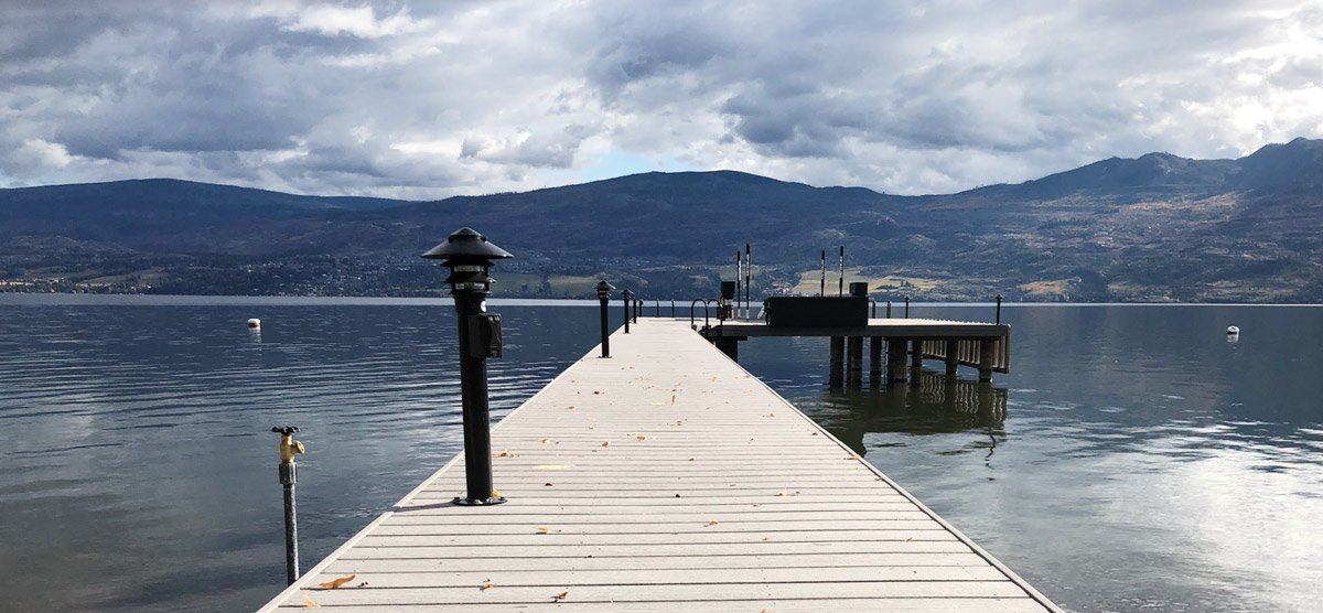Lights on dock help protect your boat dock investment - Shoreline Pile Driving