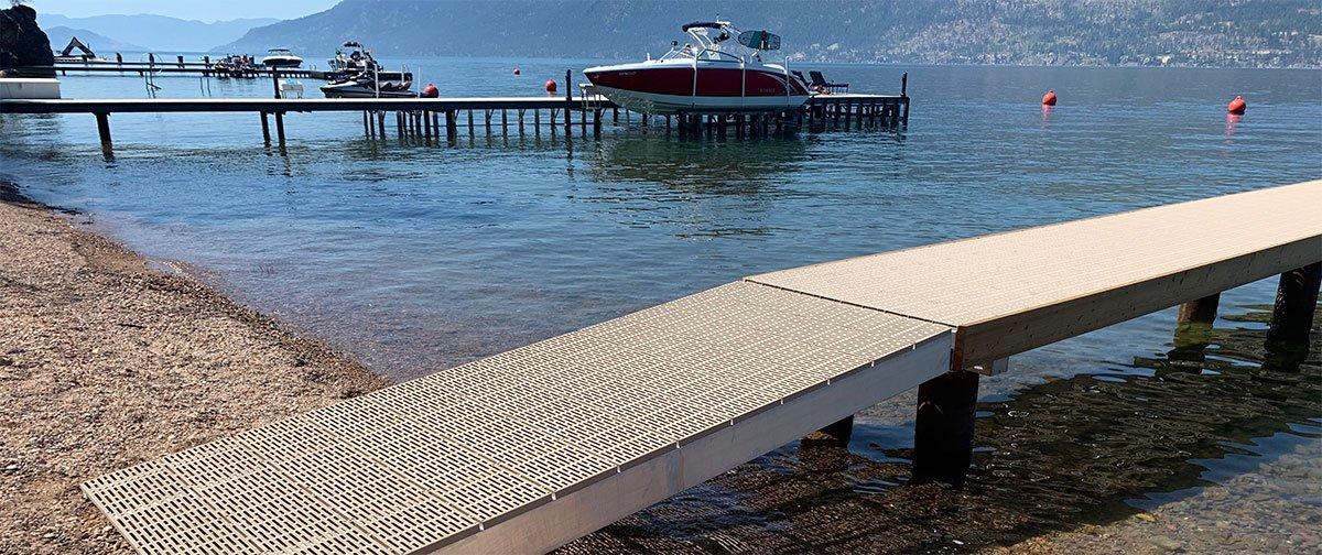 Okanagan Lake Docks built by Shoreline Pile Driving