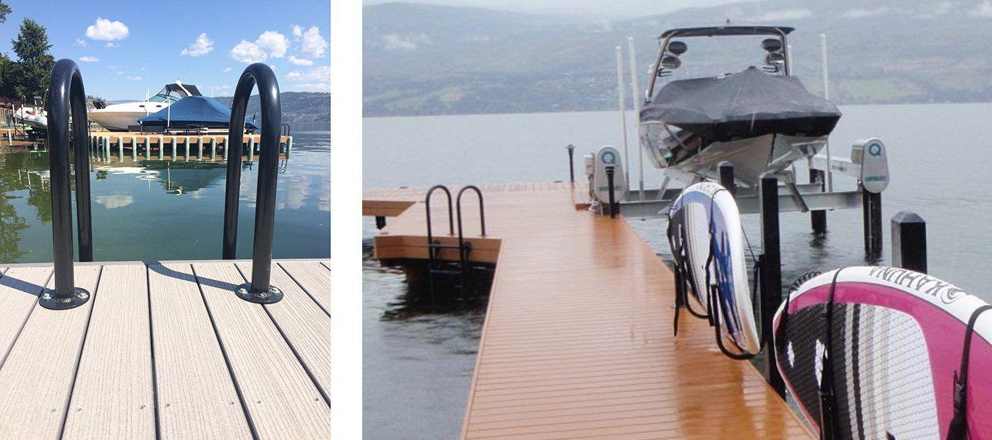 Custom Paddleboard racks and dock ladders - Shoreline Pile Driving