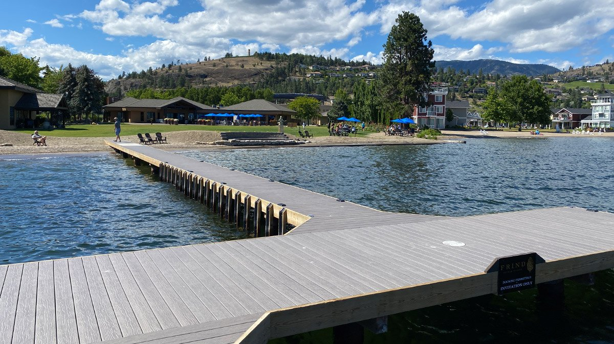 Frind Winery Boat Dock built by Shoreline Pile Driving